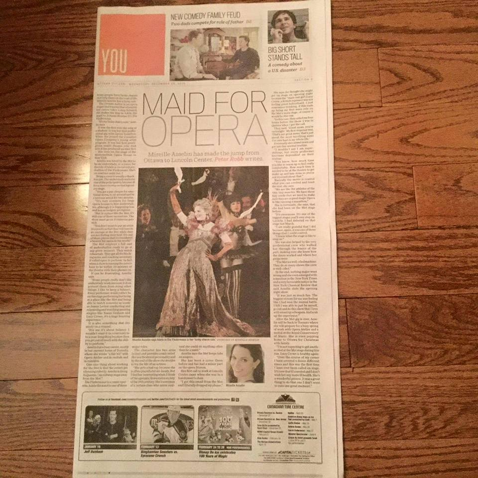 Cover of Arts Section: MAID FOR OPERA (Mireille Asselin)