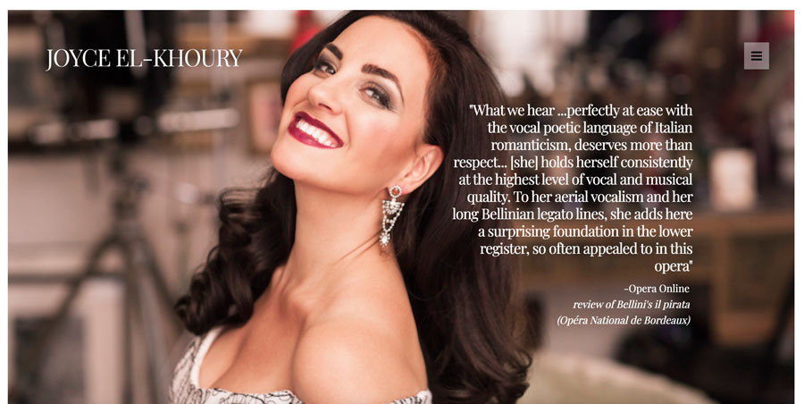 Soprano Joyce El-Khoury has redesigned website